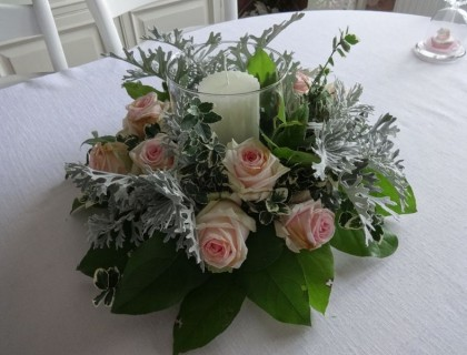 Bougie fleurie
