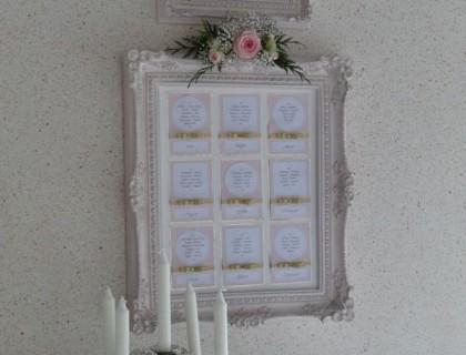 Cadre rose argent menu