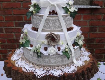 Gâteau en tissus
