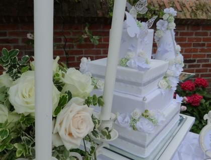 Wedding cake en tissus
